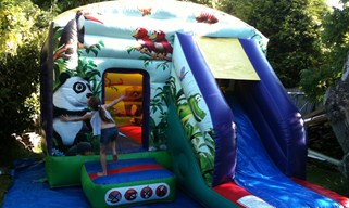 Bouncy castle with slide for hire